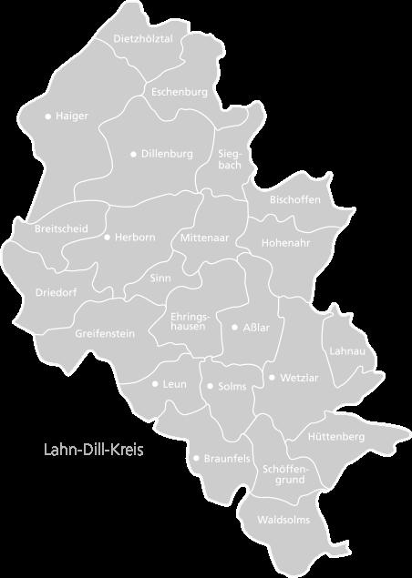 Lahn-Dill-Kreis Kreiskarte