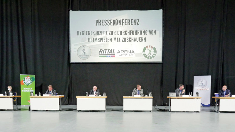 Lahn-Dill-Kreis Corona - Rittal Arena Pressekonferenz